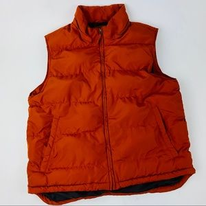 St John's Bay Mens Orange Size Large Puffer Vest